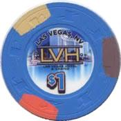 casino the LVH LV $1 chip anv