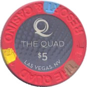 casino the quad LV $5 chip anv