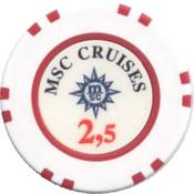 msc cruises 2,5 chip anv
