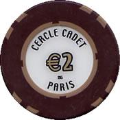 casino cercle cadet € 2 chip 1