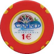casino de haut forez noirtable € 1 chip 1