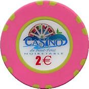 casino de haut forez noirtable € 2 chip 1