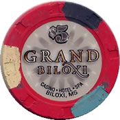 casino grand biloxi ms $ 5 chip 1 anv=rev