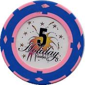 casino holiday mariopol UCR $ 5 chip rev