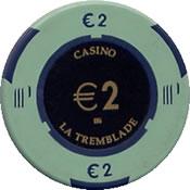 casino la tremblade € 2 chip 1