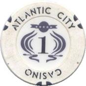 casino atlantic city $1 chip 1 anv