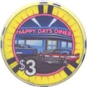 casino happy days lakewood WA $3 chip anv