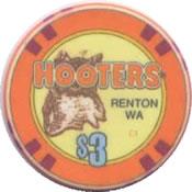 casino hooters renton WA $3 chip anv