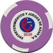 casino sheraton salta EJA $ 0,50 chip anv