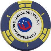 casino sheraton salta EJA de azar $ 1 chip rev