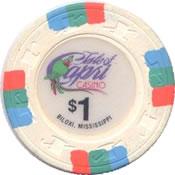 casino Isle of capri $1 chip 1 anv