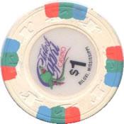casino Isle of capri $1 chip 1 rev