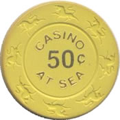 casino at sea 50c chip anv