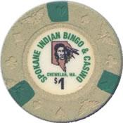 casino bingo spokane indian $1 chip anv