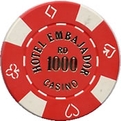 casino embajador RD 1000 chip 1 anv