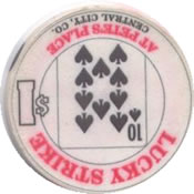 casino lucky strike $1 chip 10 rev