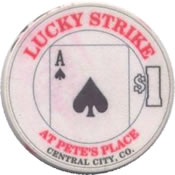 casino lucky strike $1 chip A anv
