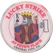 casino lucky strike $1 chip K anv