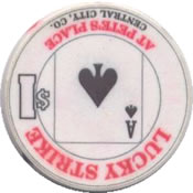 casino lucky strike$1 chip A rev