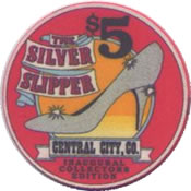 casino the silver slipper central city $5 chip1 anv