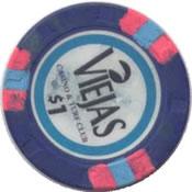 casino viejas alpine CA $1 chip rev