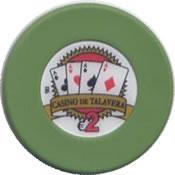 casino de talavera de la reina 2 € chip anv