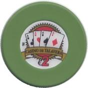 casino de talavera de la reina 2 € chip rev