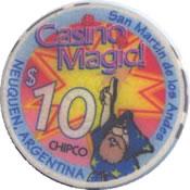 casino magid neuquen s. martin de los andes $10 chip anv