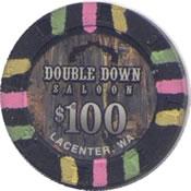 casino double down lacenter wa $ 100 chip anv