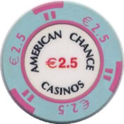 casinos american chance € 2,5 chip anv